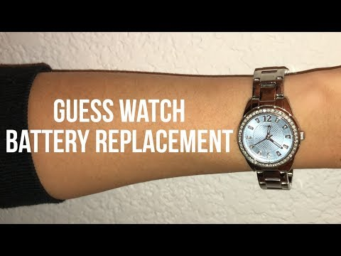 Guess Watch Battery Replacement Video