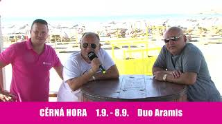 Šlágr dovolená Černá Hora 1.9.-16.9.2018 Duo Aramis