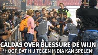 Caldas over blessure De Wijn: 'Hoop dat hij tegen India kan spelen'