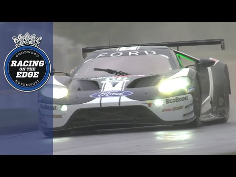 Final Le Mans Ford GT slides up FOS hill