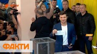 Зеленский проголосовал во втором туре выборов