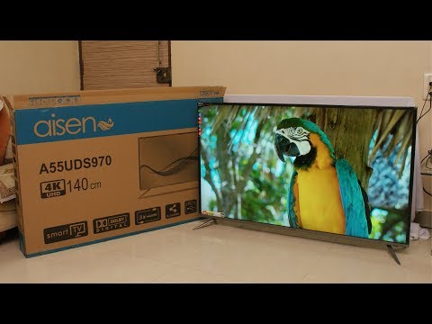 Aisen 55 inch 4K UHD smart LED TV review price Rs. 52,990