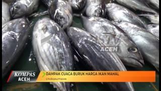 DAMPAK CUACA BURUK HARGA IKAN MAHAL  KOMPAS TV ACEH_04012017