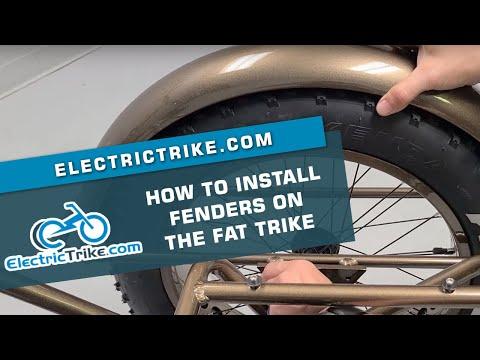 Electric Trike | Fat Trike Rear Fenders Install