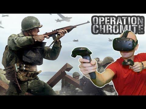 WORLD WAR SIMULATOR IN VR?   Operation Chromite 1950 HTC Vive Gameplay