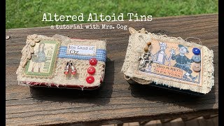 Tutorial: Altered Altoid Tins For Microjournals