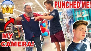 I GOT PUNCHED BY A WALMART EMPLOYEE! *BROKE MY CAMERA*