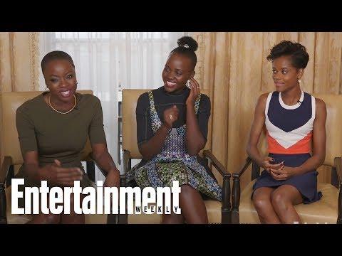 'Black Panther' Danai Gurira, Letitia Wright On Their Epic Rap Battles On Set | Entertainment Weekly