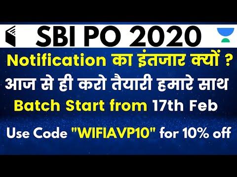 "SBI PO 2020 | Basic - Batch | Use Code ""WIFIAVP10"" & Get 10% OFF"