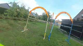 FPV Race track with ups and downs