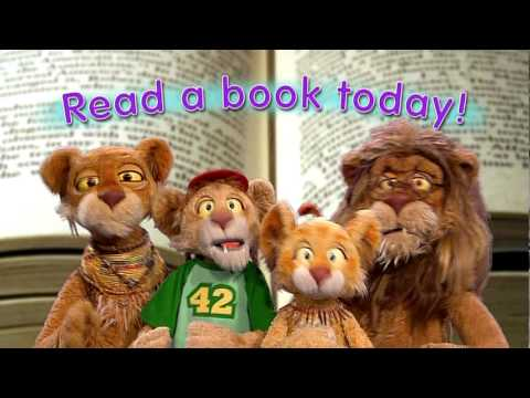 "Sing along with the ""read a book today"" song."