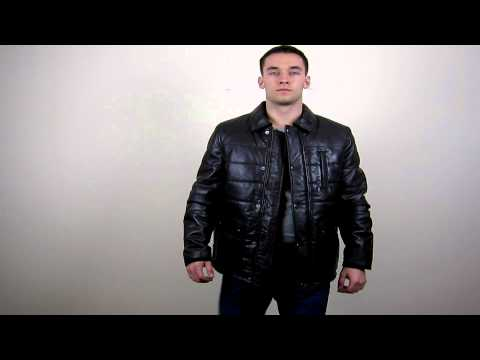 Men's Brown Quilted Leather Jacket - Bisley
