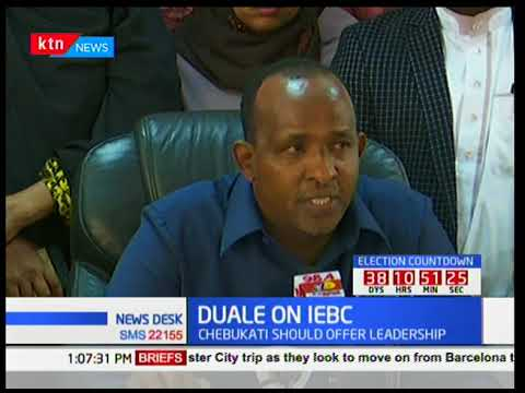 Aden Duale challenges Wafula Chebukati to offer leadership to save the country from 'side shows'