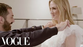 How Giambattista Valli Created Selby Drummond's Fantasy Wedding Dress | Vogue
