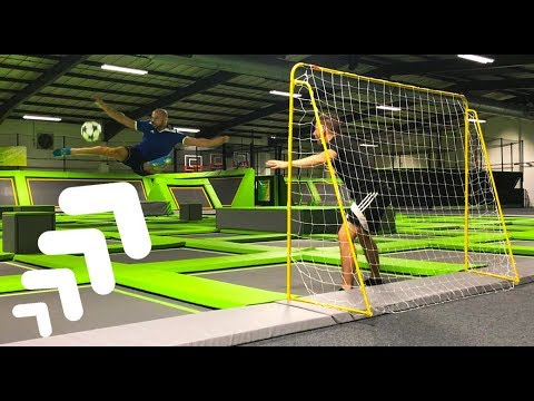 INSANE TRAMPOLINE FOOTBALL!