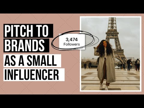 How to get brand deals with a SMALL following | How to pitch to brands | Small influencer tips