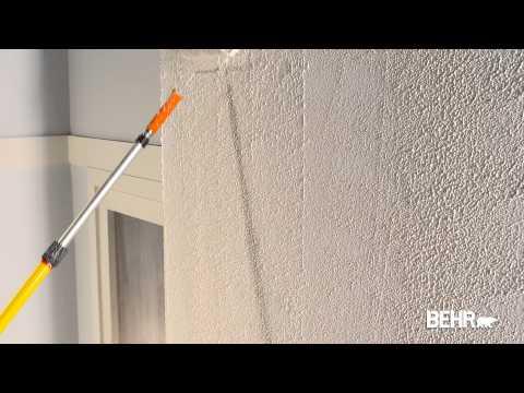 Peinture BEHR: Comment faire la peinture texturée, la technique de crépi aplati