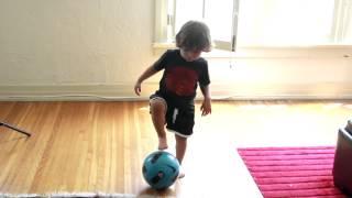 2 year old soccer player. Brighton Lee Sagal soccer practice. 7/29/2012