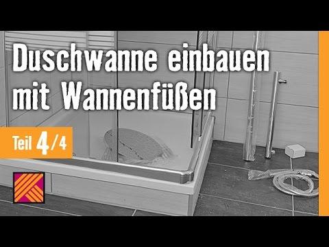 Version 2013 Duschwanne einbauen mit Wannenfüßen - Kapitel 4: Duschkabine einbauen | HORNBACH