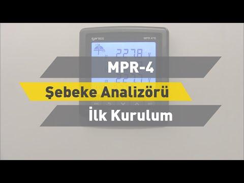 ENTES MPR-4 Şebeke Analizörü - İlk Kurulum