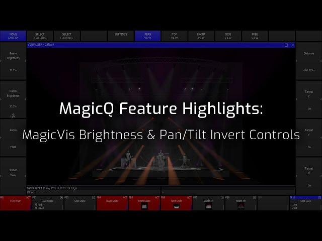 MagicVis Brightness & Pan/Tilt Invert Controls