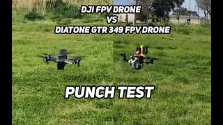 DJI FPV DRONE VS 130€ 4S FPV DRONE - Punch Test