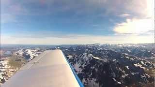 Rundflug von Erbach (EDNE) /ULM in die Alpen