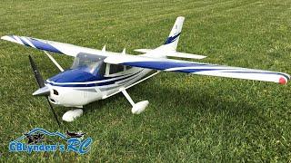 Top Flite Cessna 182 Skylane RC Plane Scale Flight With Tricks & Near Crash