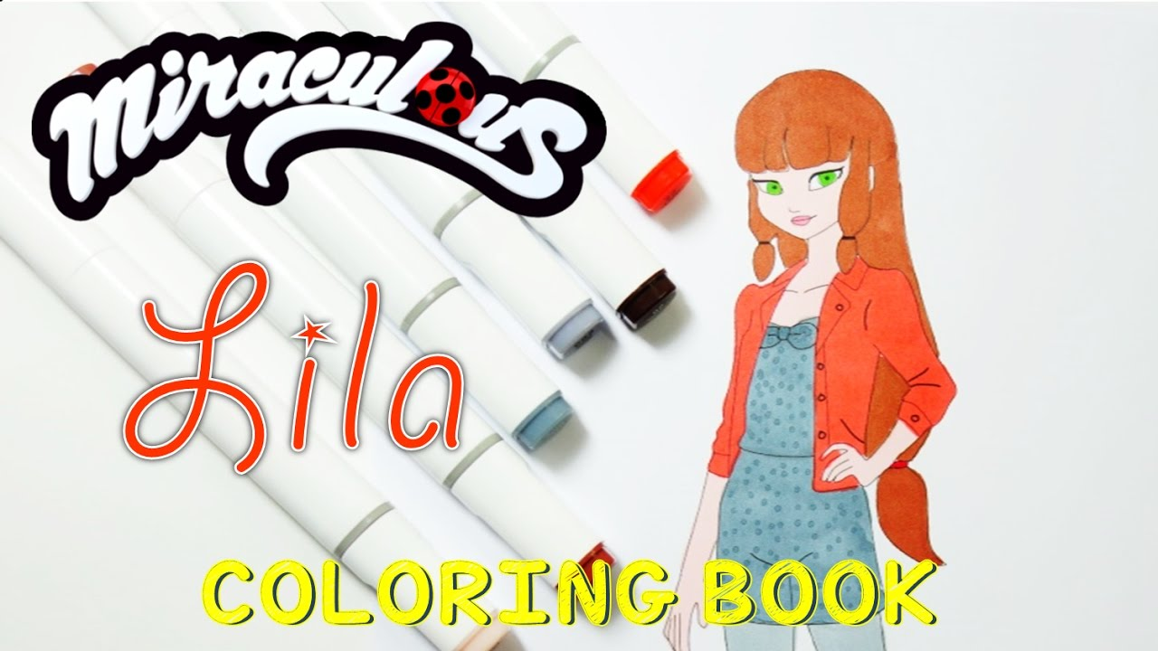 Miraculous Ladybug Coloring Book Pages Lila aka Fake Volpina | Evies Toy House