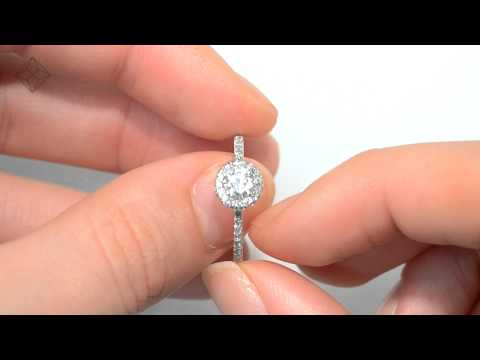 Stunning Halo Diamond Ring and 9K White Gold Ring