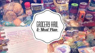GROCERY HAUL   MEAL PLAN   PUBLIX   WALMART GROCERY PICK UP