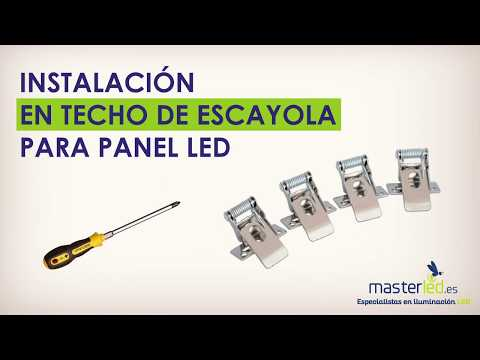 Cómo instalar un panel LED mediante Kit para techo de escayola.