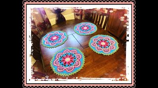 How To Crochet Colourful Mandala Placemat