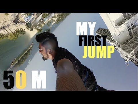 My First Time Bungee Jumping | AJ Hackett Singapore | SilentStuff