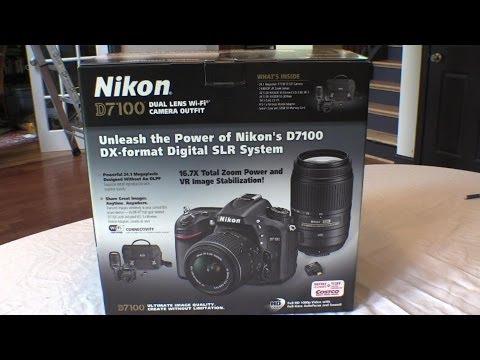 Nikon D7100 - Unboxing Costco's camera mutli-lens outfit