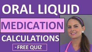 Dosage Calculations | Nursing Drug Calculations | Oral Medications Problems Nursing School (Video 3)