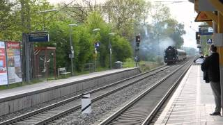 preview picture of video 'Dampflok BR 41 1150 in Eichenau am 01.05.2014'