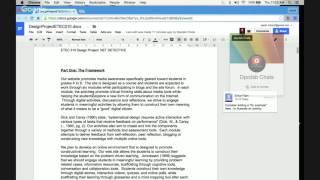 Collaborative Writing using Google Docs