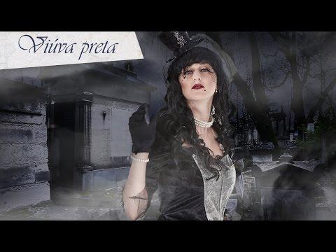 Maquilhagem de viuva preta para Halloween