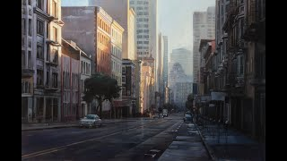 유화 로 도시화 그리기. San Francisco Cityscape Oil Painting Progress Shot. ㅣ유화풍경화ㅣ