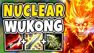 NUCLEAR ONE-SHOT WUKONG MID! 100% BUSTED 100-0 BURST ASSASSIN (RIDICULOUS) - League of Legends