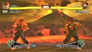 Evil Ryu vs Akuma (Hardest AI) – Ultra Street Fighter IV
