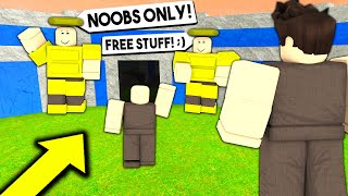 GOD TRIBE Only Lets NOOBs In.. So I Went UNDERCOVER! (Roblox Booga Booga)