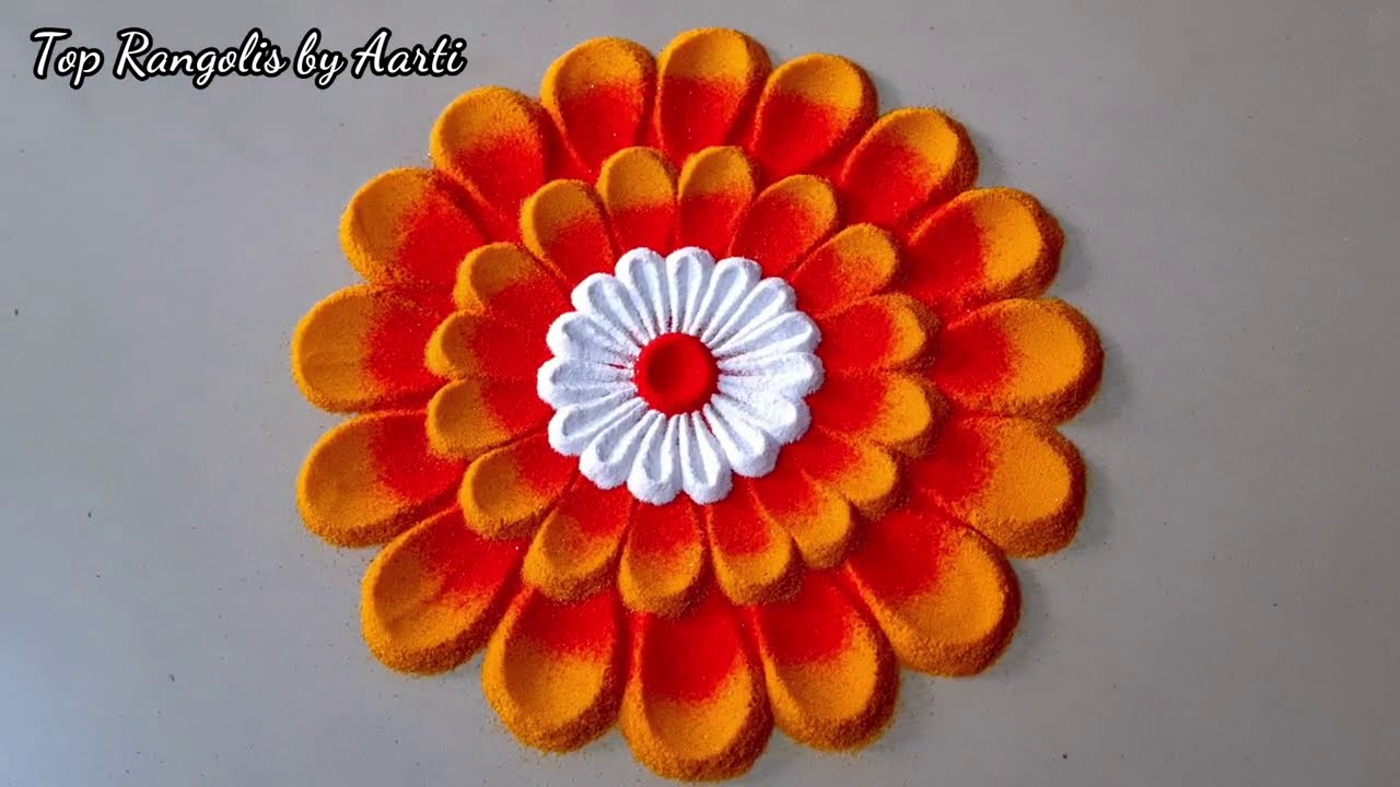 easy and simple rangoli for festival by aarti