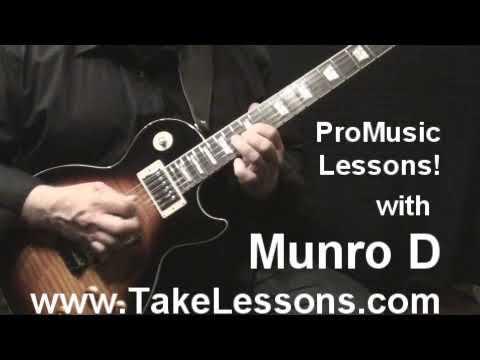Munro D - Rock Guitar Video - Take Lessons