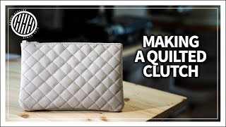 [Leather Craft] Making A Quilted Leather Clutch Bag