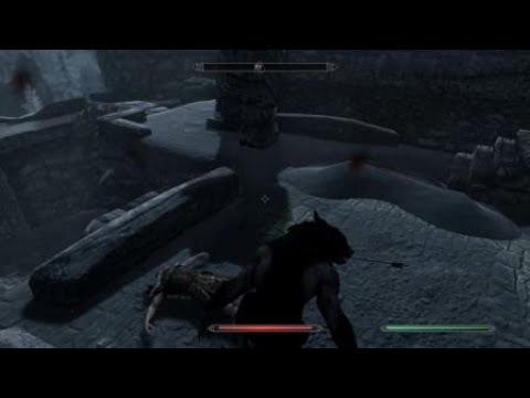 Skyrim - Werewolf Skull Crushing!