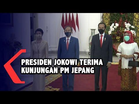 presiden jokowi terima kunjungan pm jepang di istana kepresidenan bogor