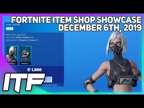 Fortnite Item Shop *NEW* HUSH SKIN SET! [December 6th, 2019] (Fortnite Battle Royale)