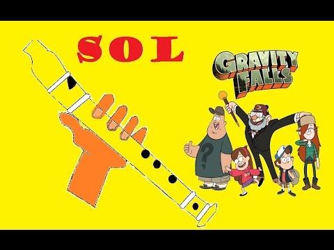 , title : 'Gravity falls, versión fácil para flauta dulce+pista+guía. Animación. Tutorial.'